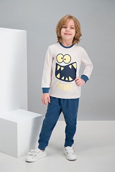 Roly Poly Rolypoly Yeah Monster Bej Erkek Çocuk Pijama Takımı Bej